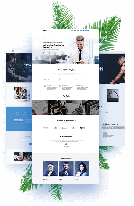 website design with Graphic Images