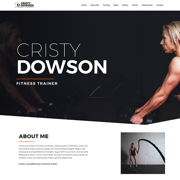 web design chicago fitness website design template 1
